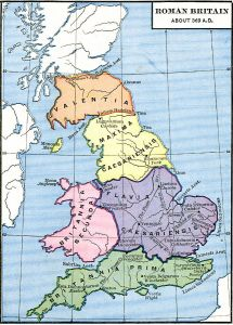 Ancient Britain - The Ancient Cultures of Britain. Map of Ancient Britain, showing the Celtic tribes, and Roman roads, 369NE